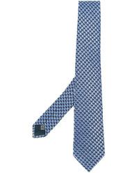 Corbata de seda azul de Lanvin