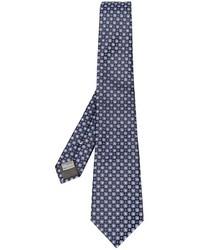 Corbata de Seda Bordada Azul Marino de Canali