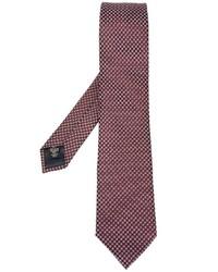 Corbata de Seda con estampado geométrico Burdeos de Ermenegildo Zegna