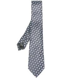 Corbata de seda con estampado geométrico gris de Giorgio Armani