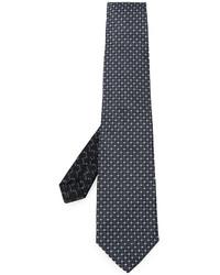 Corbata de seda con estampado geométrico negra de Etro