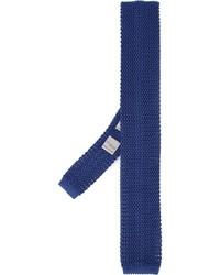 Corbata de seda de punto azul marino de Canali