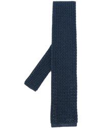 Corbata de seda de punto azul marino de Tom Ford