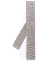 Corbata de seda de punto gris de Eleventy