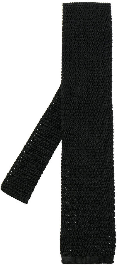 Corbata de seda de punto negra de Tom Ford