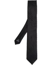 Corbata de seda de punto negra de Tonello