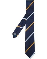 Corbata de Seda de Rayas Horizontales Azul Marino de Paul Smith