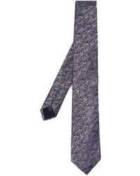 Corbata de seda en gris oscuro de Lanvin