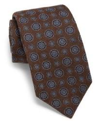 Corbata de seda en marrón oscuro