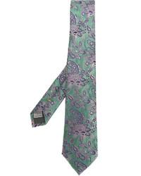 Corbata de Seda en Verde Menta de Canali