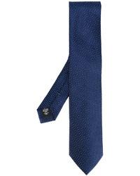 Corbata de seda estampada azul marino de Ermenegildo Zegna
