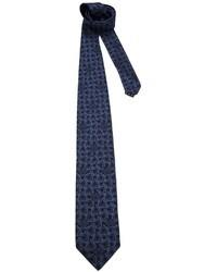 Corbata de seda estampada azul marino de Versace