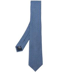 Corbata de seda estampada azul de Giorgio Armani