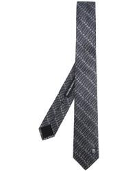 Corbata de seda estampada en gris oscuro de Alexander McQueen