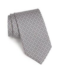 Corbata de seda gris