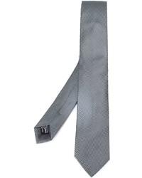 Corbata de seda gris de Giorgio Armani