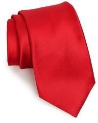 Corbata de seda roja