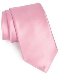 Corbata de seda rosada