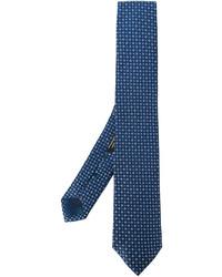 Corbata de seda tejida azul marino de Corneliani