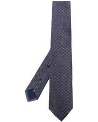 Corbata de seda tejida azul de Corneliani