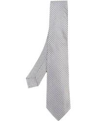 Corbata de seda tejida gris de Kiton
