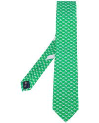 Corbata de seda verde de Salvatore Ferragamo