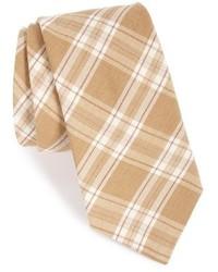 Corbata de tartán en beige