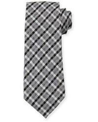 Corbata de tartán negra