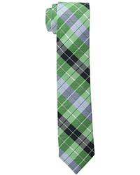 Corbata de tartán verde de Original Penguin