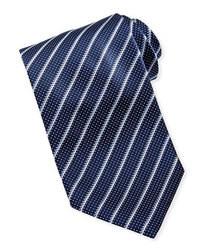 Corbata en azul marino y blanco