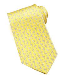 Corbata estampada amarilla
