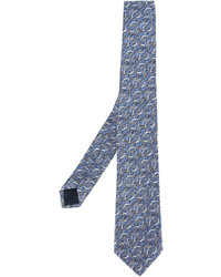 Corbata estampada azul de Lanvin
