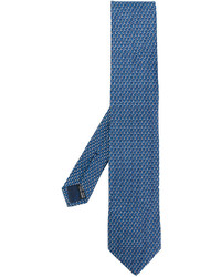 Corbata estampada azul de Salvatore Ferragamo