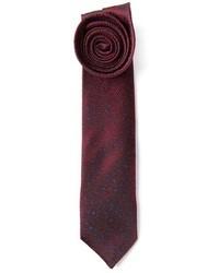 Corbata estampada burdeos de Mr Start