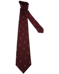 Corbata estampada burdeos de Polo Ralph Lauren