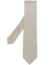 Corbata estampada en beige