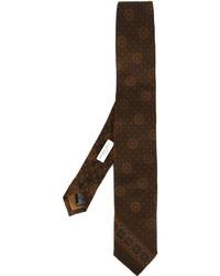 Corbata estampada en marrón oscuro de Boglioli