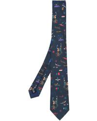 Corbata estampada en verde azulado de Salvatore Ferragamo