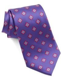 Corbata estampada en violeta
