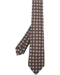 Corbata estampada marrón de Kiton