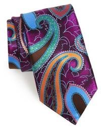 Corbata estampada morado