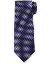 Corbata Estampada Morado Oscuro de Armani Collezioni