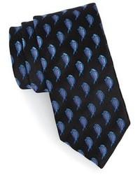 Corbata estampada negra