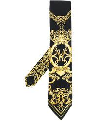 Corbata estampada negra de Versace