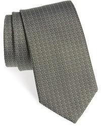 Corbata estampada verde oliva