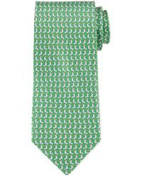Corbata estampada verde