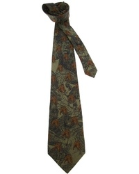 Corbata estampada verde oscuro