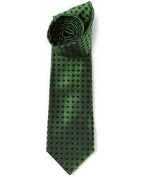 Corbata estampada verde oscuro de Etro