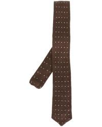Corbata tejida en marrón oscuro de Eleventy