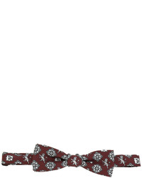 Corbatín de seda estampado marrón de Dolce & Gabbana